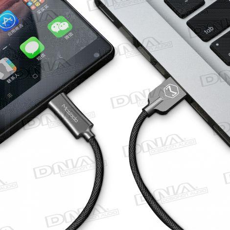 Mcdodo Knight Series Type-C To USB Nylon Braided Lead – 1 Mtr