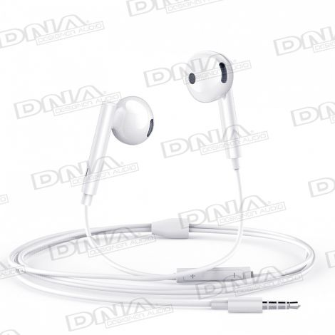 Mcdodo In-Ear D-Shaped Headphones with Inline Mic and Volume Control – White