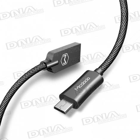 Mcdodo Knight Series Micro-USB Plug to USB Plug Nylon Braided Lead – 1 Mtr