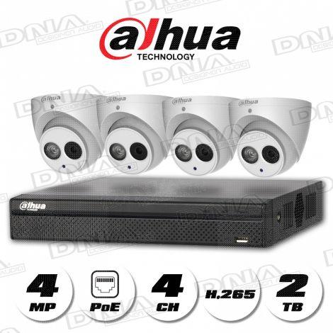 4k|H.265 4ch 4PoE NVR 2TB HDD & 4MP PoE Cameras
