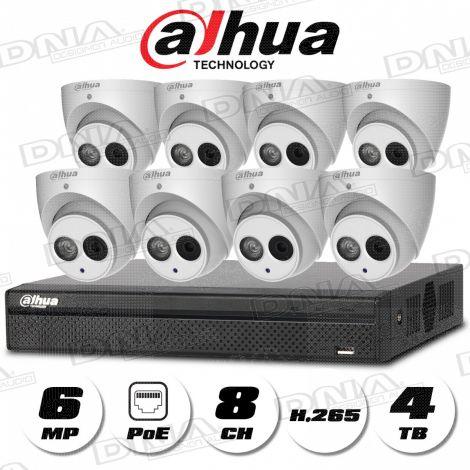 4k|H.265 8ch 8PoE NVR 4TB HDD & 6MP PoE Cameras