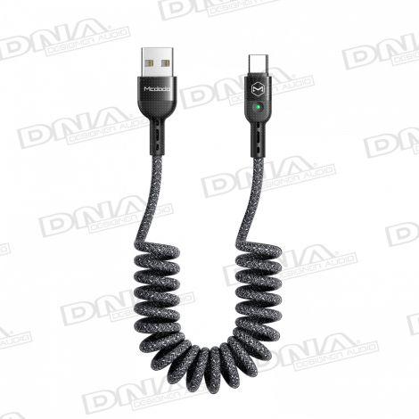 Mcdodo Heavy Duty Coiled Type-C to USB Lead - 1.8mtr Max