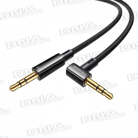 Nylon Braided Heavy-Duty Right Angle 3.5mm AUX lead – 1.2m