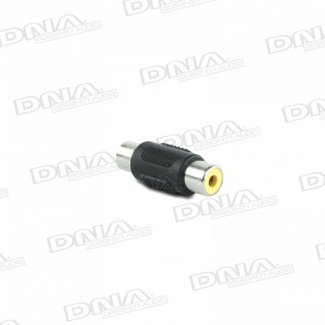 Female RCA Socket to Female RCA Socket Audio Adaptor