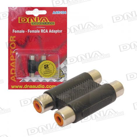 2 RCA Female To 2 RCA Female Audio Adaptor - 1 Pack