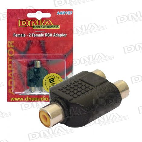 RCA Female To 2 RCA Female Audio  Adaptor - 1 Pack