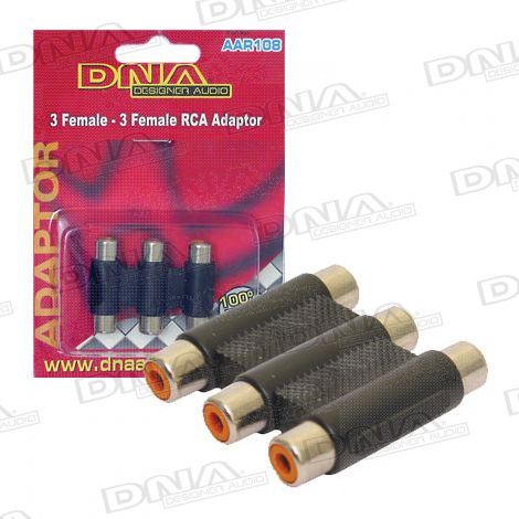 3 RCA To RCA A/V Inline Joiner - 1 Pack