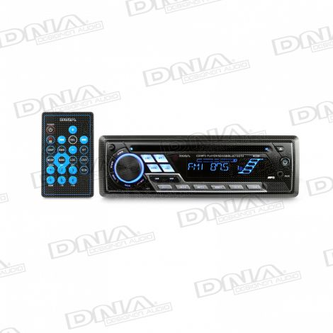 DNA Single DIN CD / MP3 Player With AM/FM Tuner with Bluetooth, SD, USB input and AUX audio inputs