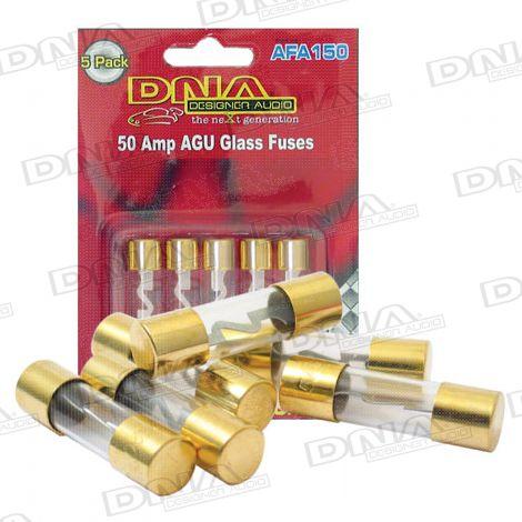AGU Gold Fuses 50 Amp - 5 Pack