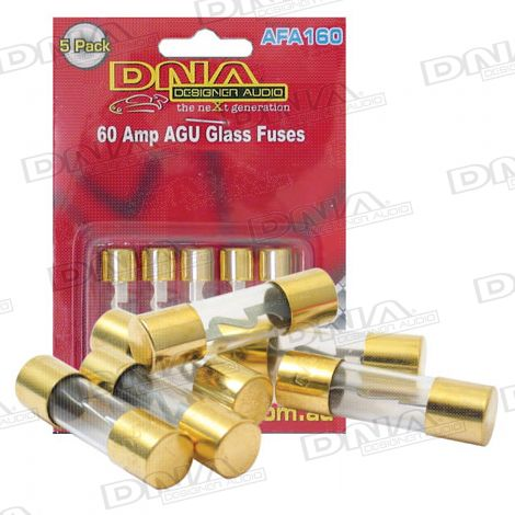 AGU Gold Fuses 60 Amp - 5 Pack