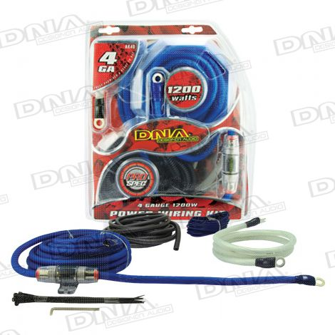 4 Gauge 1200W Amplifier Power Kit