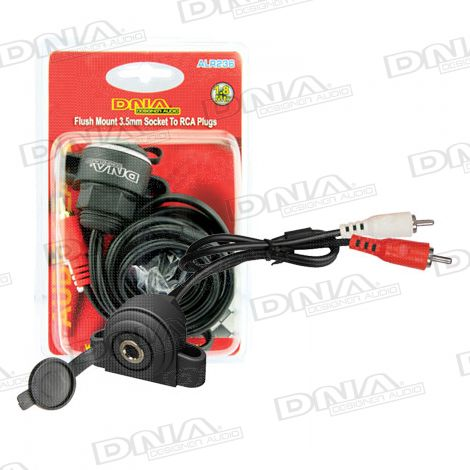 Flush Mount 3.5mm Socket To 2 RCA Plug Audio Lead
