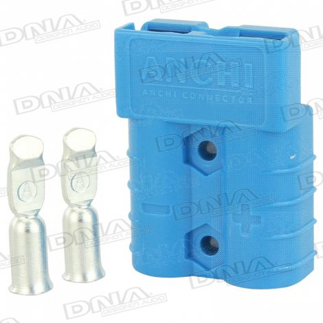 Heavy Duty Anderson Battery Connector 50 Amp - Blue