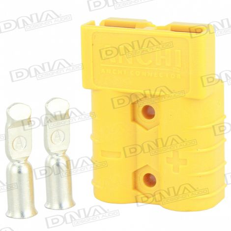 Heavy Duty Anderson Battery Connector 50 Amp - Yellow