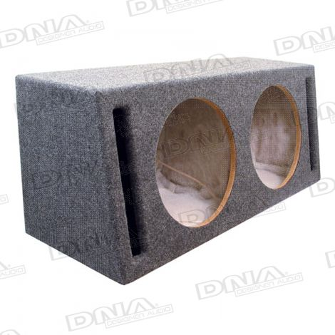 Double 12 Inch Slot Port Subwoofer Box