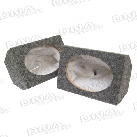 6x9 Inch MDF Speaker Box Grey - 1 Pair