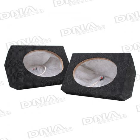 6x9 Inch MDF Speaker Box Black - 1 Pair