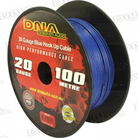 20 Gauge Hookup Power Cable Blue - 100 Metres