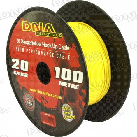 20 Gauge Hookup Power Cable Yellow - 100 Metres