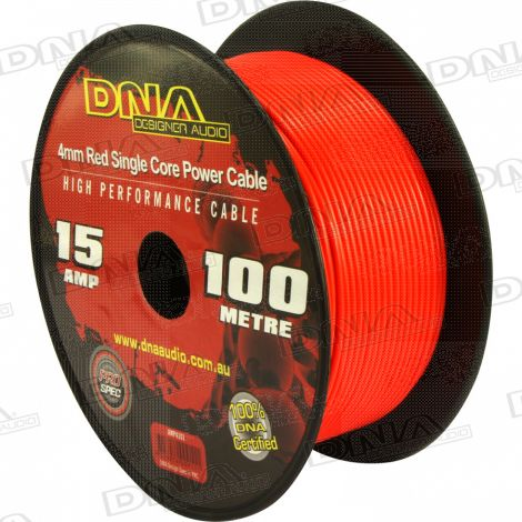 4mm Single Core Power Cable Red - 100 Metres