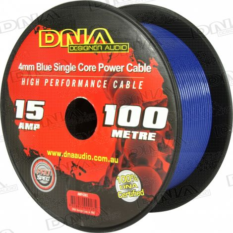 4mm Single Core Power Cable Blue - 100 Metres