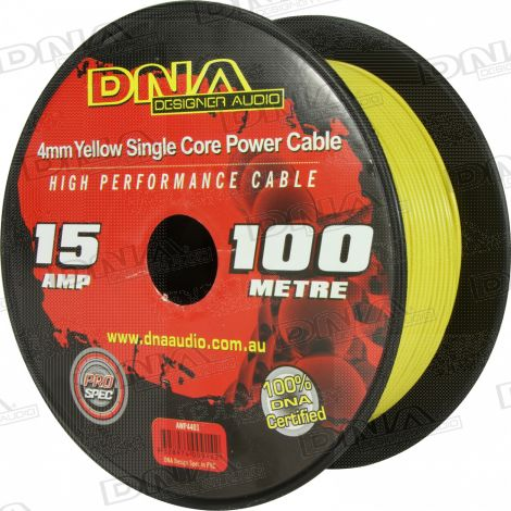 4mm Single Core Power Cable Yellow - 100 Metres