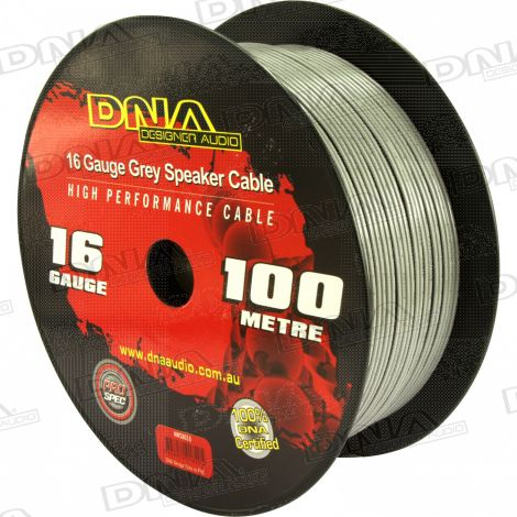 16 Gauge Speaker Cable Grey - 100 Metres