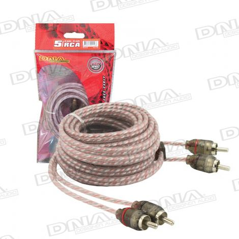 Bulk 5.0 Metre 2 To 2 RCA Cable - Red