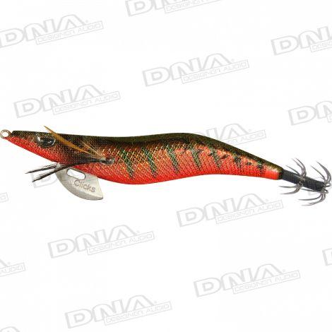 Clicks 2.5 Size Squid Lure Colour 093 - Aji / Red Tiger