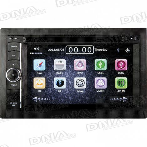 6.2 Inch Double DIN DVD Player Receiver