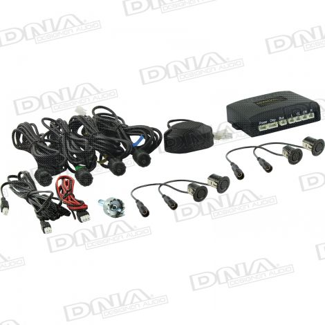 4 x 18.5mm Parking Sensor Kit With Buzzer