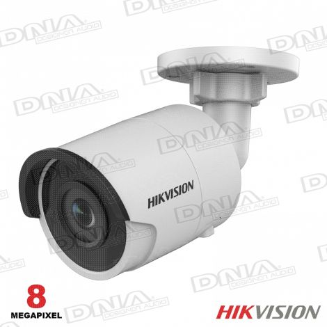 8MP Outdoor Mini Bullet Camera, H.265+, 30m IR, 120dB WDR, IP67, 4mm