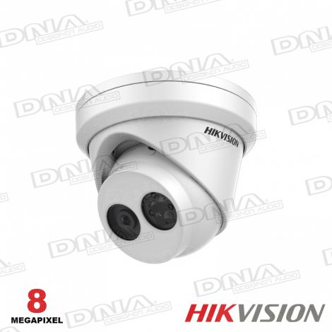 8MP Outdoor Turret Camera, H.265+, 30m IR, 120dB WDR, IP67, 2.8mm