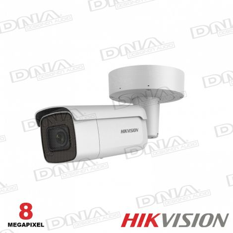 8MP Outdoor Motorised VF Bullet, H.265+, IR, IO, WDR, IP67, 2.8-12mm