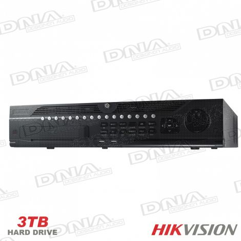 Hikvision 32ch NVR, 320Mbps (200Mbps w RAID enabled) +3TB HDD