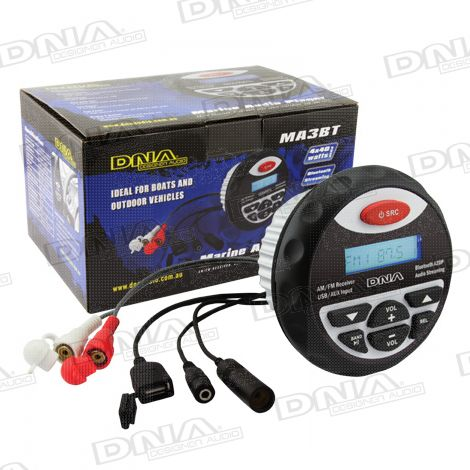 Marine Bluetooth USB/MP3 Player With AM/FM