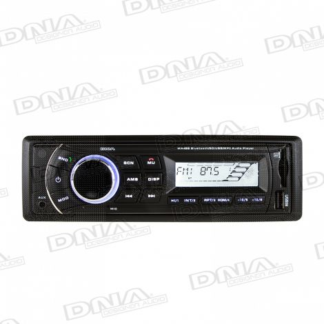 Black Bluetooth USB/SD MP3 Player with AM/FM tuner and AUX audio input