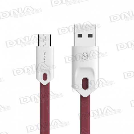 Base Range Micro USB to USB 25cm Lead - Red