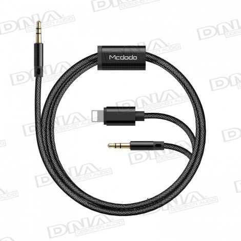 Mcdodo Lightning and 3.5mm AUX to 3.5mm AUX audio lead - 1.2 Metres