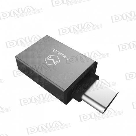 Type-C to USB 3.0 On-The-Go (OTG) Adaptor black