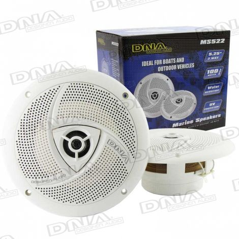 5.25 Inch 2 Way Marine Speakers - 1 Pair