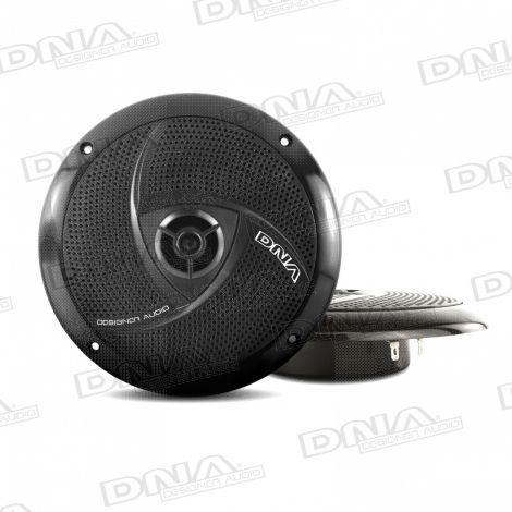 6.5 Inch Slimline Marine Speakers In Black - 1 Pair