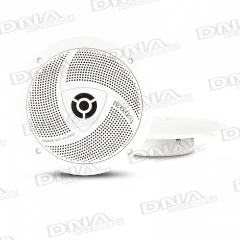 6.5 Inch Slimline Marine Speakers In White - 1 Pair