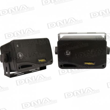 Marine Speaker Box Black - 1 Pair