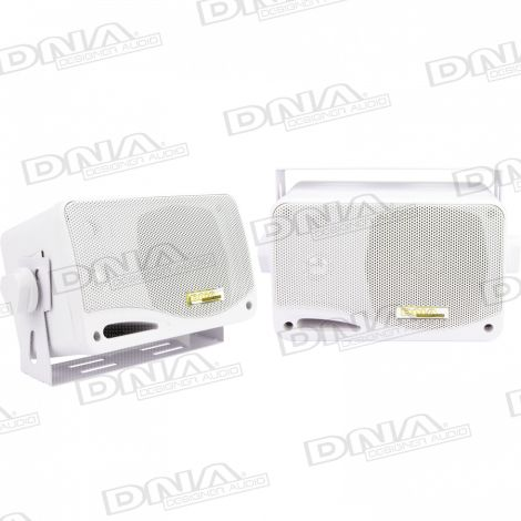 Marine Speaker Box White - 1 Pair
