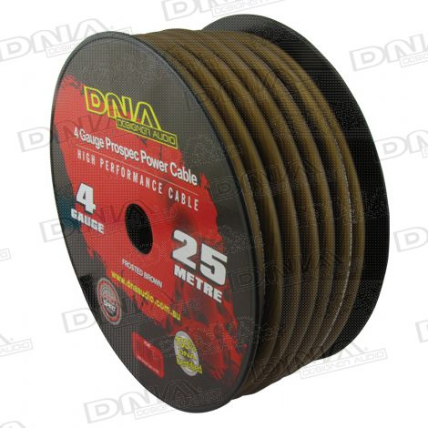 4 Gauge Power Cable Frosted Brown - 25 Metres