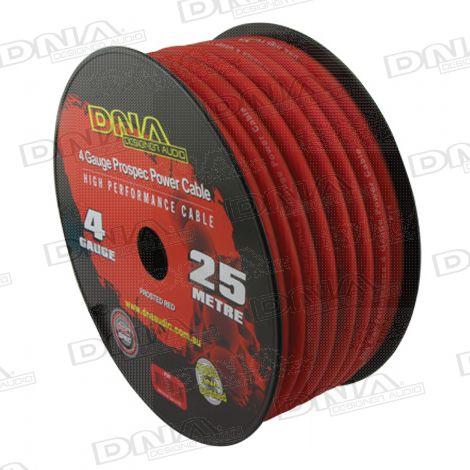 4 Gauge Power Cable Frosted Red - 25 Metres