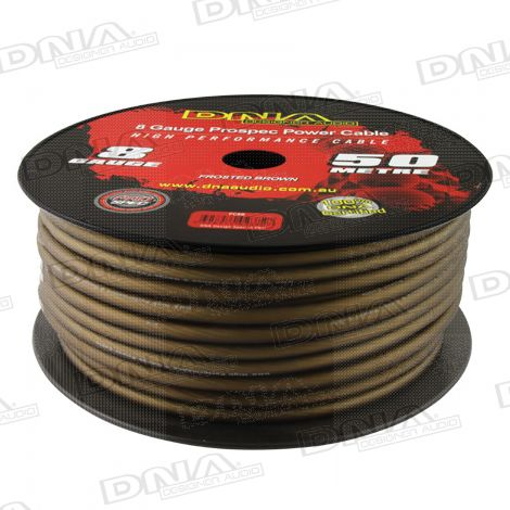 8 Gauge Power Cable Frosted Brown - 50 Metres