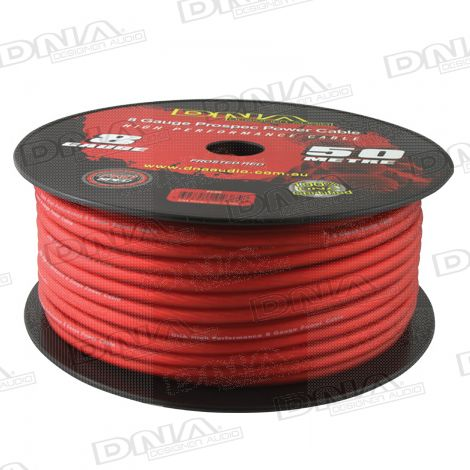 8 Gauge Power Cable Frosted Red - 50 Metres