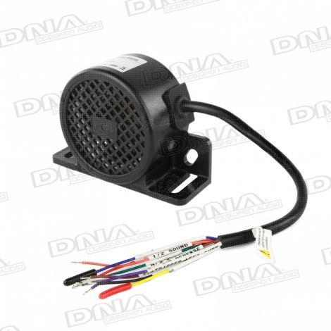 Reversing Backup Alarm Squawker With Left Turning Message - Black